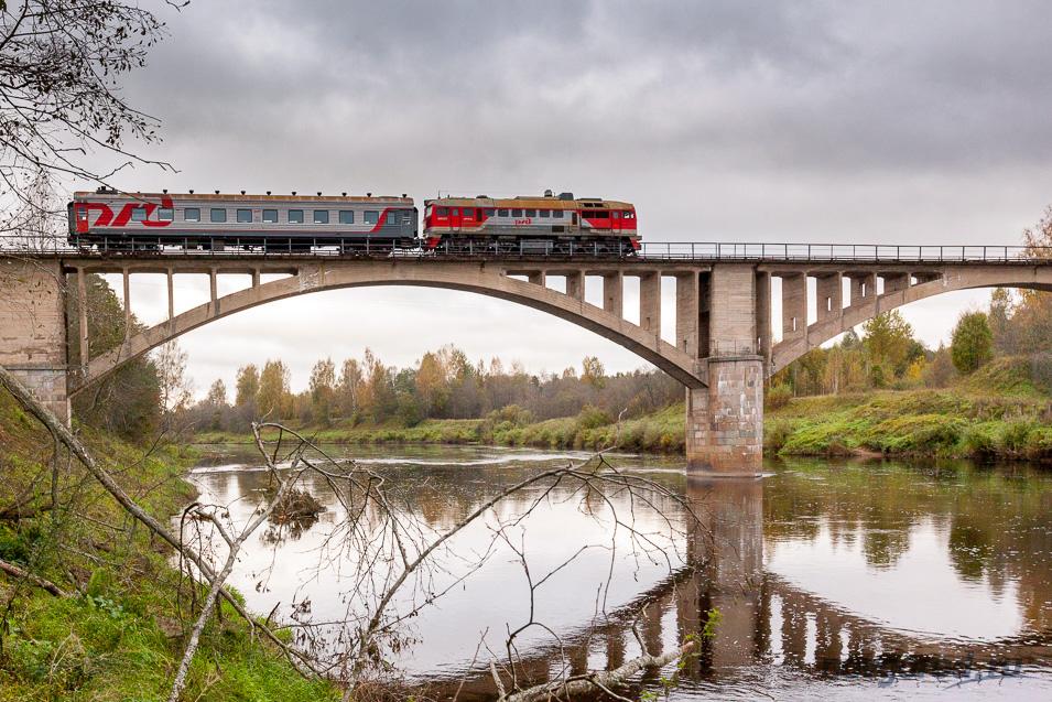 Красивые мосты Новгородской области: железная дорога Окуловка — Неболчи