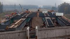 Путепровод на пересечении с железной дорогой Чудово — Великий Новгород
