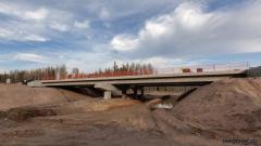 Мост через реку Суватель на 624 км