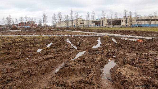 Благоустройство парка Юности в 2017 году. © Фото из архива интернет-портала «Новгород.ру»