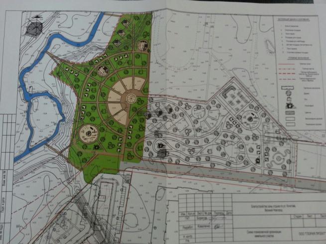 Проект будущего парка.