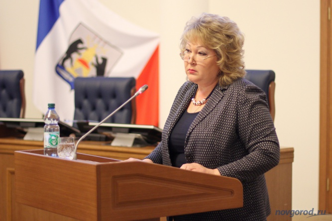 Руководитель  департамента здравоохранения Новгородской области Галина Михайлова.