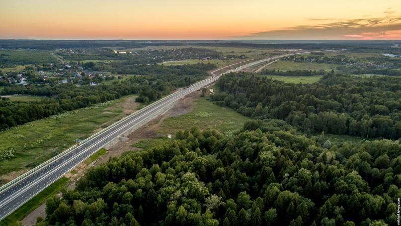 Автомагистраль М11 в районе города Клин. © Фото из архива интернет-портала «Новгород.ру»