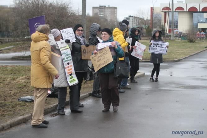 Пикет «Надоел» 29 апреля. © Фото из архива интернет-портала «Новгород.ру»