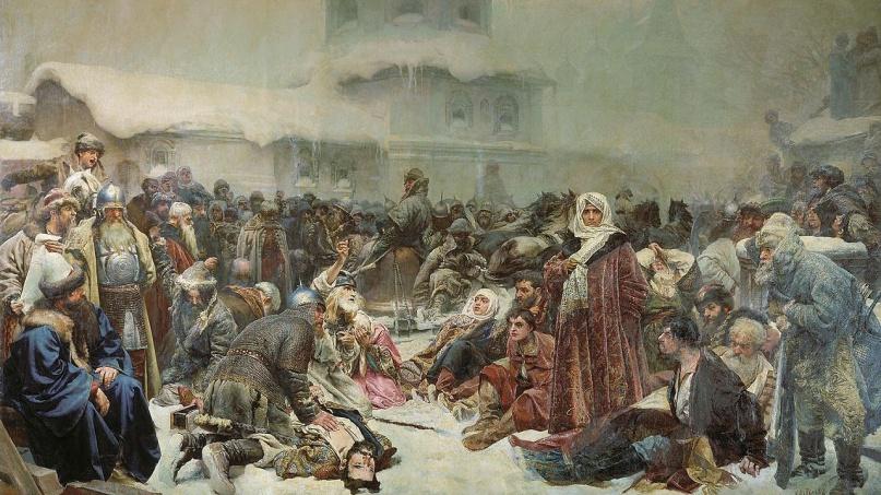 © Клавдий Лебедев — Марфа Посадница. Уничтожение новгородского веча. 1889 год, холст, масло