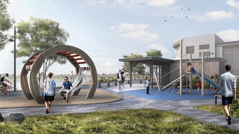Фото из проектной документации набережной в Сольцах. © Центр развития городской среды Новгородской области