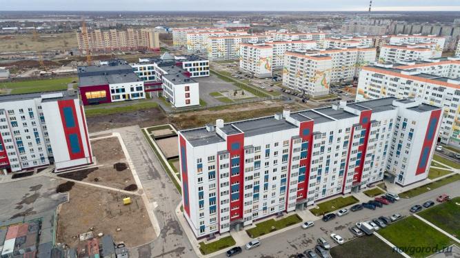 Микрорайон «Ивушки» —застройщик ЗАО «Проектстрой». © Фото из архива интернет-портала «Новгород.ру»