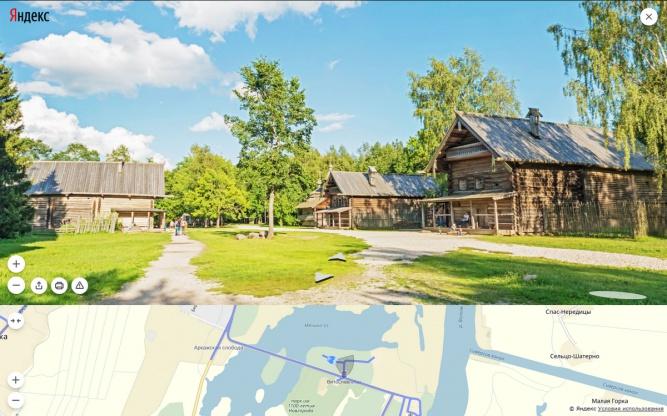 Музей деревянного зодчества «Витославлицы» на «Яндекс.Картах».