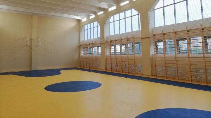 Отремонтированный спортивный зал. © adm.nov.ru