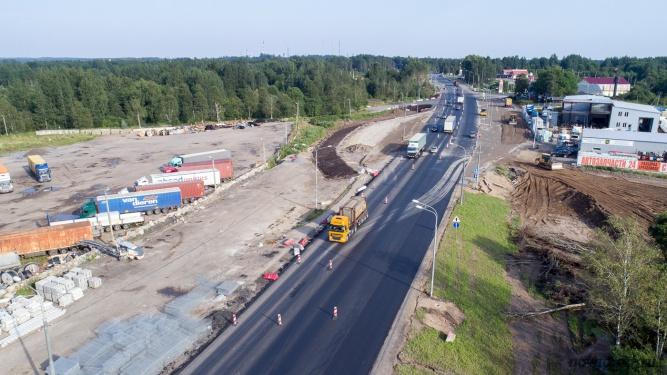 Реконструкция М10 «Россия» под Валдаем. © Фото из архива интернет-портала «Новгород.ру»
