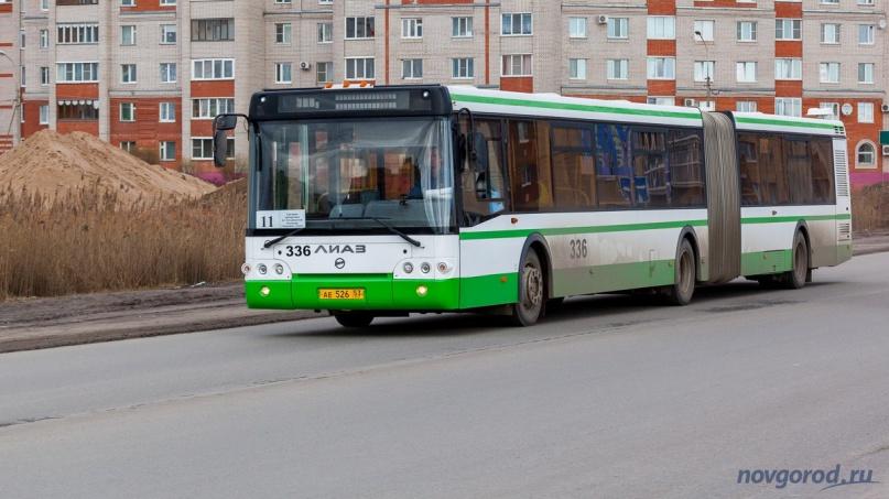Автобус ЛиАЗ особо большой вместимости. © Фото из архива интернет-портала «Новгород.ру»