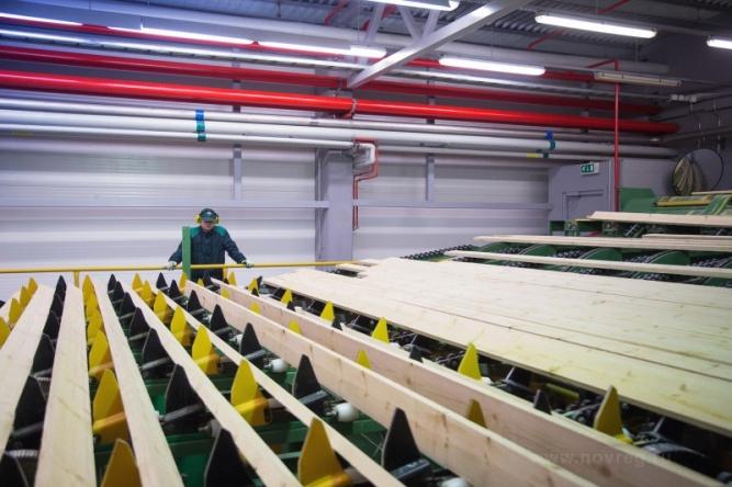 Лесоперерабатывающий завод в Пестовском районе. © Фото с сайта novreg.ru