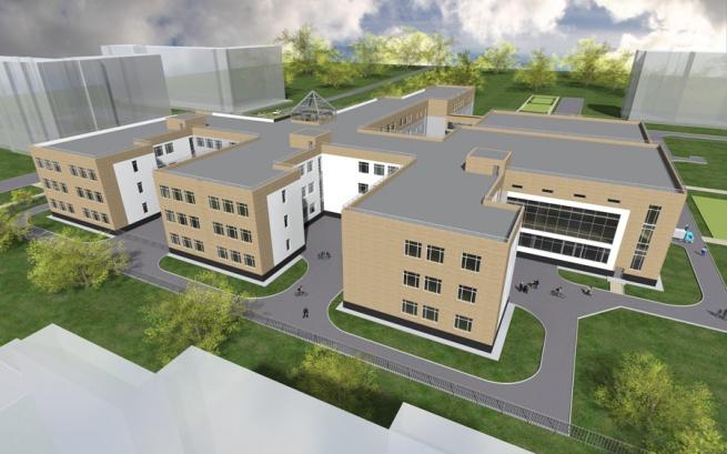 Визуализация проекта школы. © Администрация Великого Новгорода