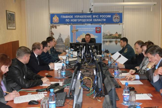 Заседание КЧС. © Фото с сайта 53.mchs.gov.ru