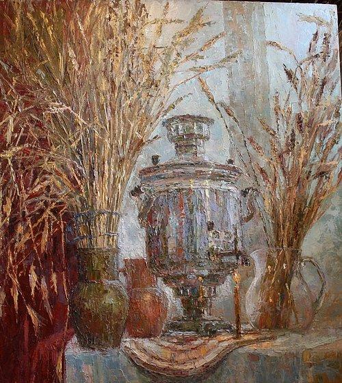 © Картина новгородской художницы, которую приобрёл Дмитрий Медведев