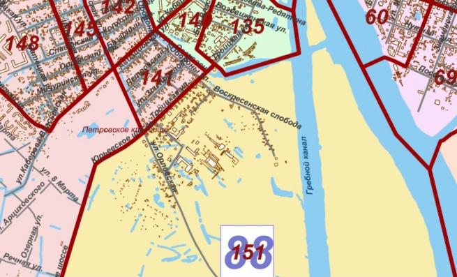 Район Воскресенской слободы. © Карта с сайта adm.nov.ru