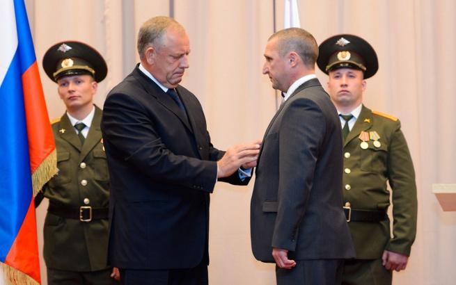 Церемония инаугурации главы Валдайского района Александра Тарасова, сентябрь 2013 года. © Фото с сайта valdayadm.ru