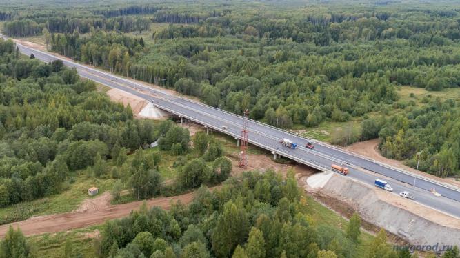 Строительство моста через реку Олешня. © Фото из архива интернет-портала «Новгород.ру»