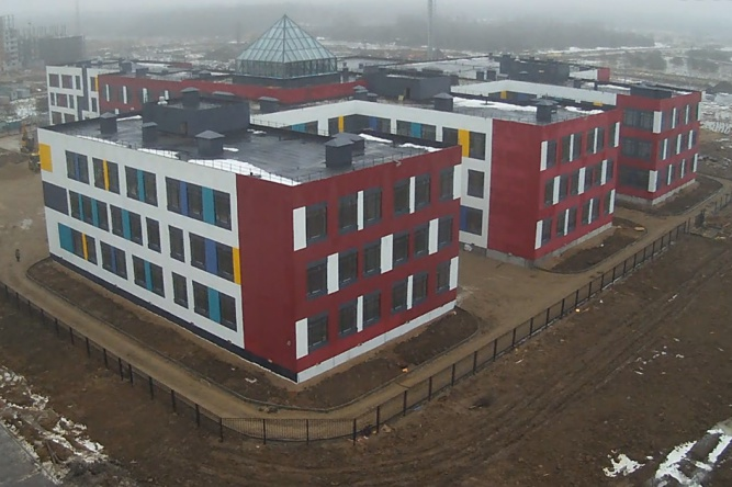 Школа в микрорайоне «Ивушки». © «Строительный трест 45»