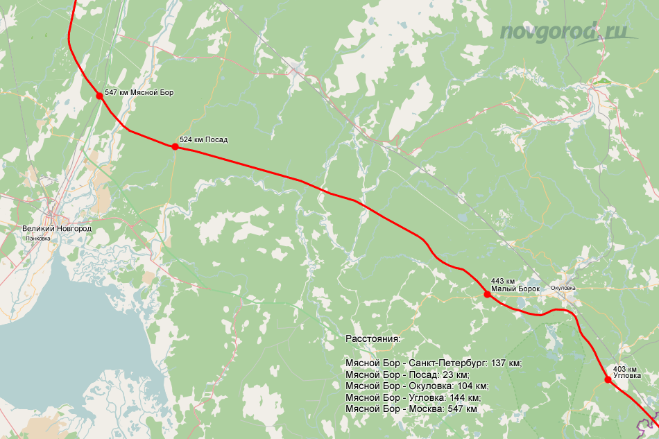 М11 трасса схема в спб