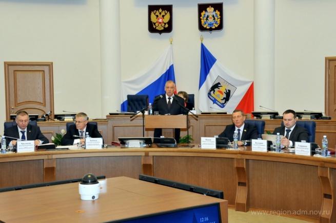 Заседание правительства. © Фото с сайта правительства Новгородской области