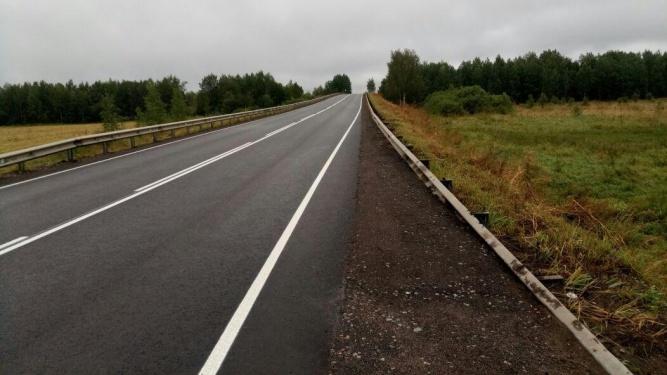 Участок дороги Зуево — Новая Ладога. ГКУ «Ленавтодор» ©