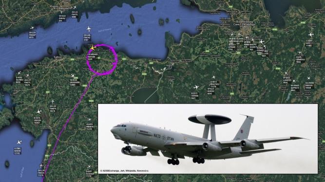 Сегодняшний полет борта LX-N90442 проходил в районе посёлка Тапа и города Раквере в Эстонии. Самолет вылетел с авиабазы в Польше и в данный момент возвращается к месту дислокации.