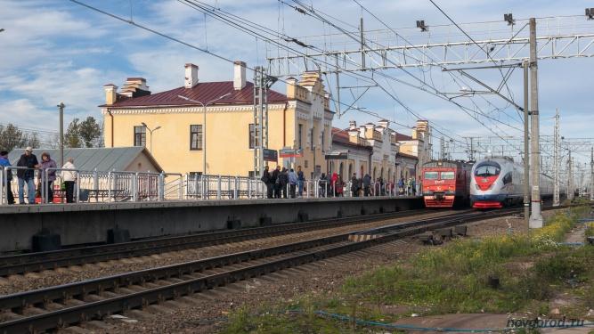 Железнодорожный вокзал в Чудово. © Фото из архива интернет-портала «Новгород.ру»