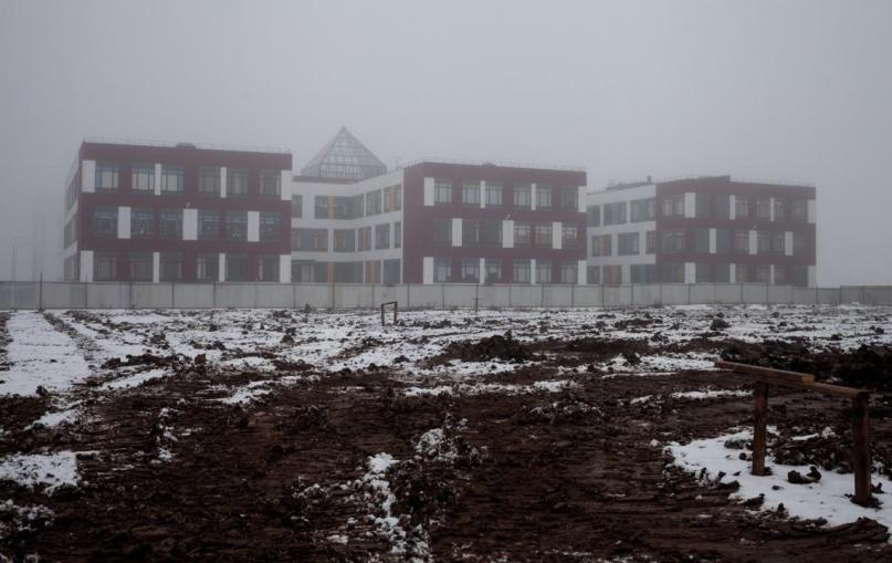 Строительная площадка детского сада в «Ивушках». © adm.nov.ru