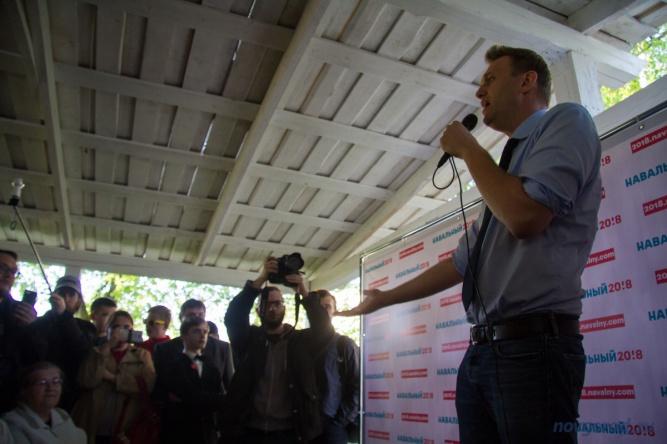 Алексей Навальный на открытии предвыборного штаба в Великом Новгороде. © Фото из архива интернет-портала «Новгород.ру»