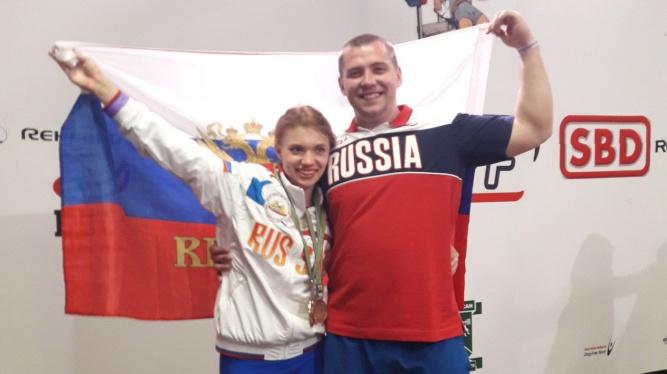 Анна Елизарова с тренером Алексеем Иванищенко. © Фото из личного архива спортсменки