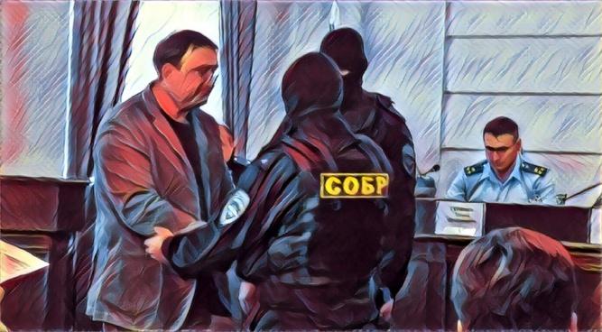 Задержание Александра Кирбая в прокуратуре Новгородской области.