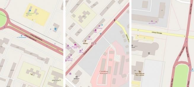 Участки планируемых пешеходных переходов.