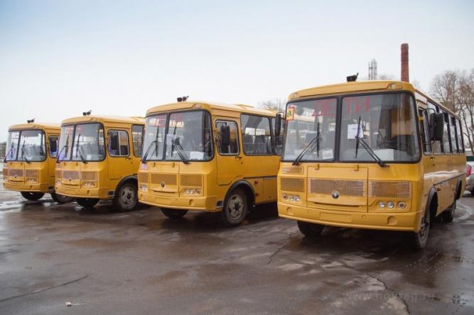 Автобусы ПАЗ для школ Новгородской области. © Пресс-центр правительства Новгородской области