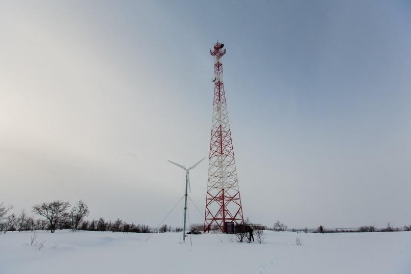 Базовая станция, работающая на энергии ветра.
