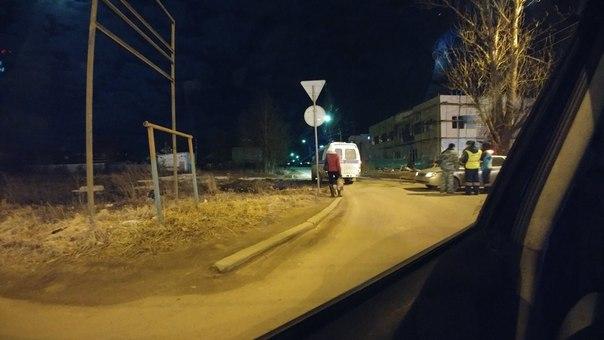 Оцепление в переулке Полевой.