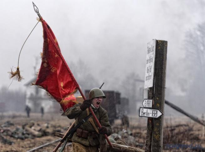 Военно-историческая реконструкция «Забытый подвиг – Вторая Ударная армия» в п. Тёсово-Нетыльский в апреле 2014 г.