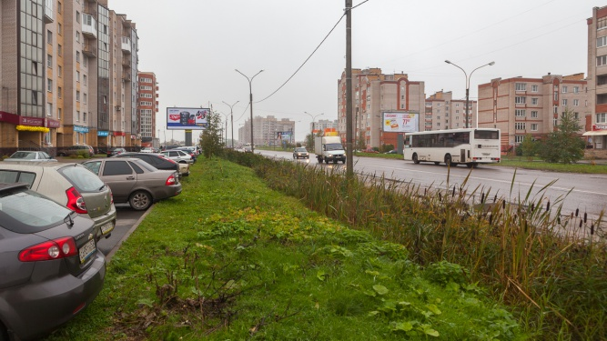 Улица Псковская на участке между улицами Речная и Луговая