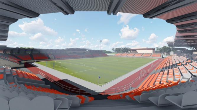 Визуализация стадиона «Электрон» после второго этапа реконструкции. © ОАО «Институт Новгородгражданпроект»