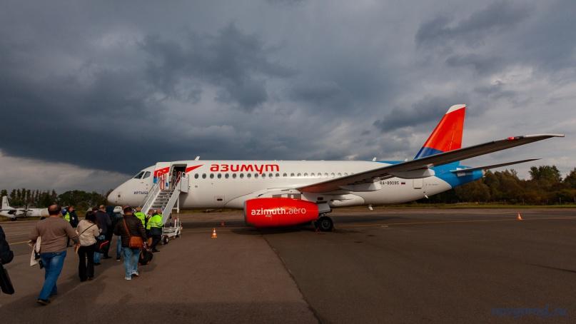 Посадка на рейс A4 438 Псков — Москва (Внуково).