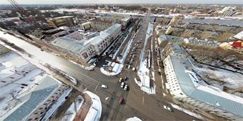 Панорама: Перекресток улиц Большая Московская и Фёдоровский ручей