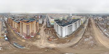 Панорама: Строительство продолжения улицы Большой Московской