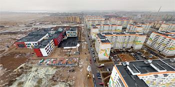Панорама: Строительство школы №36 в «Ивушках»