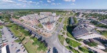 Панорама: Перекресток улицы Кочетова и улицы Нехинская.