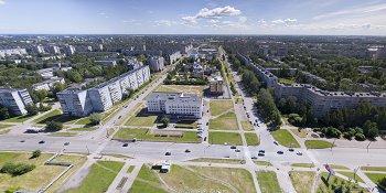 Панорама: Перекресток улиц Кочетова и Попова