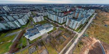 Панорама: Устройство сквера на улице Коровникова