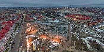 Панорама: Строительство школы №37