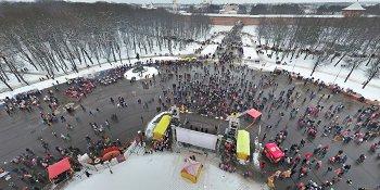 Панорама: Масленица в Великом Новгороде