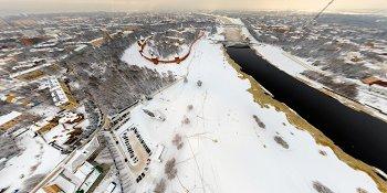 Панорама: Новгородский кремль зимой