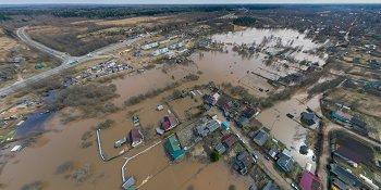 Панорама: Наводнение в Крестцах и Ямской Слободе